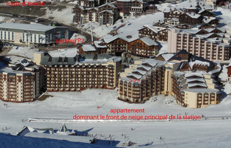 Vue extérieure de la location Location Appartement 20123 Val Thorens