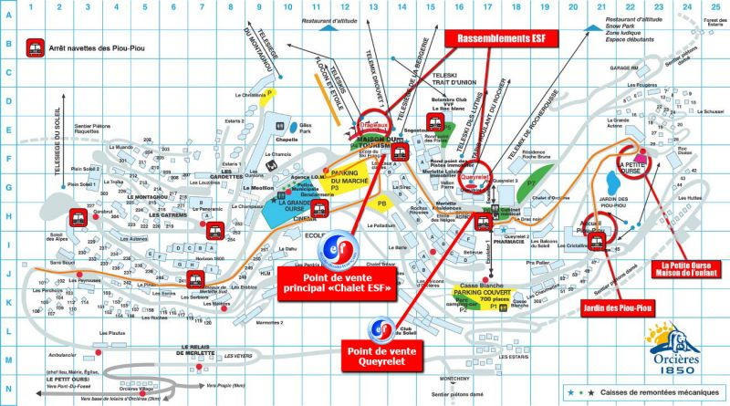 Plan de la location Location Appartement 20491 Orcières Merlette