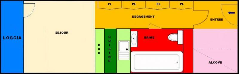 Plan de la location Location Studio 211 Les Arcs