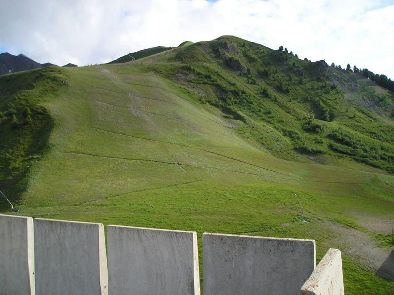 Vue de la terrasse Location Appartement 2146 La Plagne