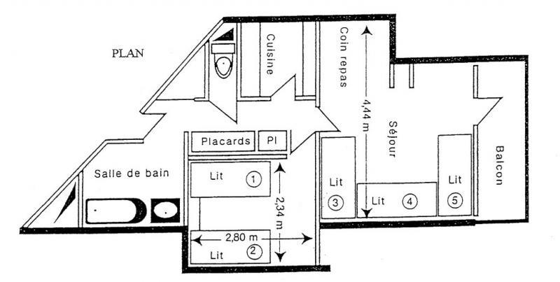 Plan de la location Location Appartement 2147 La Plagne