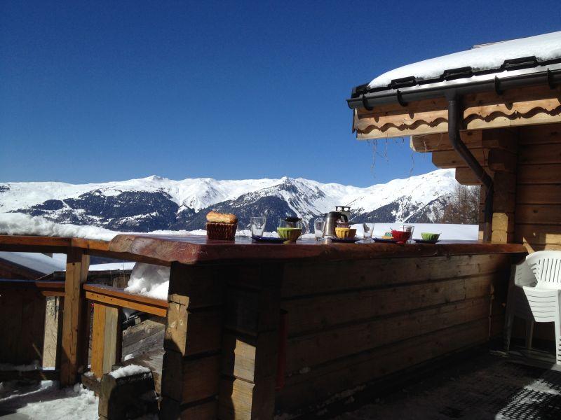 Vue de la terrasse Location Chalet 2248 La Plagne