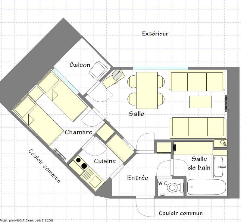 Plan de la location Location Appartement 2265 La Plagne