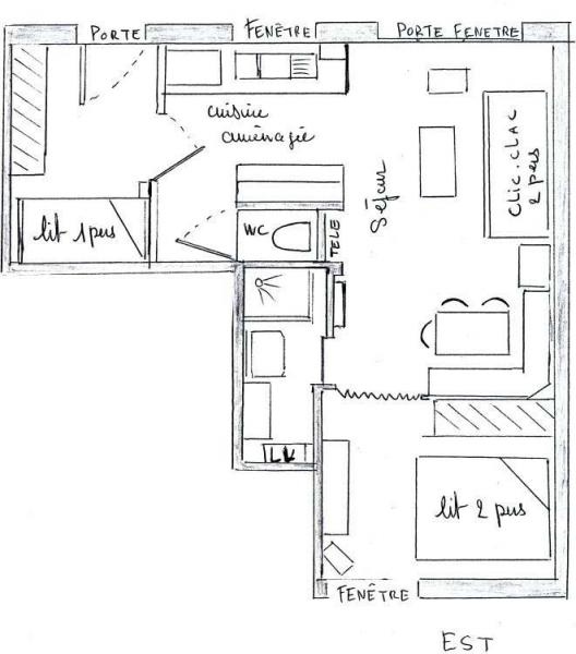 Plan de la location Location Appartement 22897 Chamonix Mont-Blanc