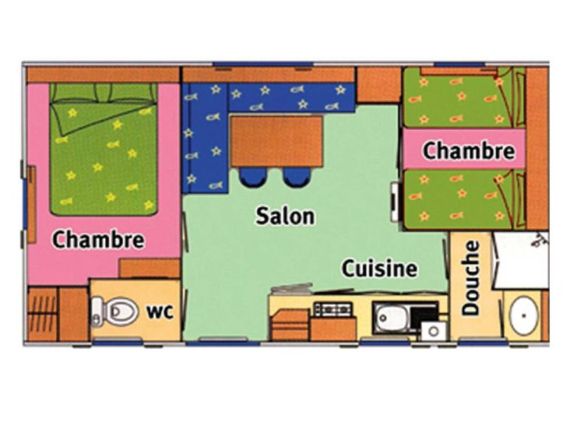 Plan de la location Location Mobil-home 23796 Saint Pierre d'Oléron