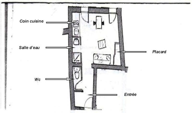 Plan de la location Location Studio 25481 Bandol