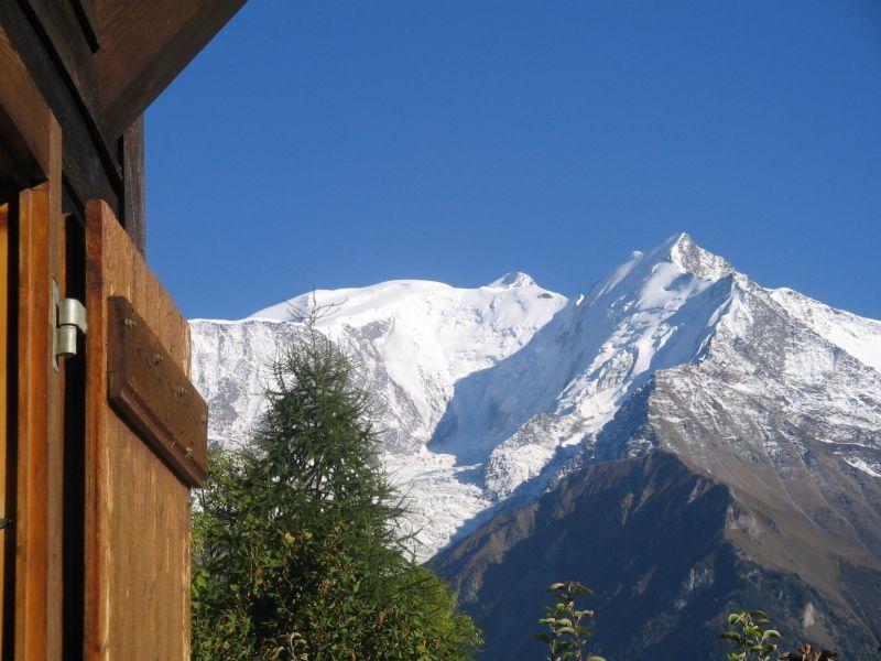 Vue depuis la location Location Chalet 2585 Saint Gervais Mont-Blanc