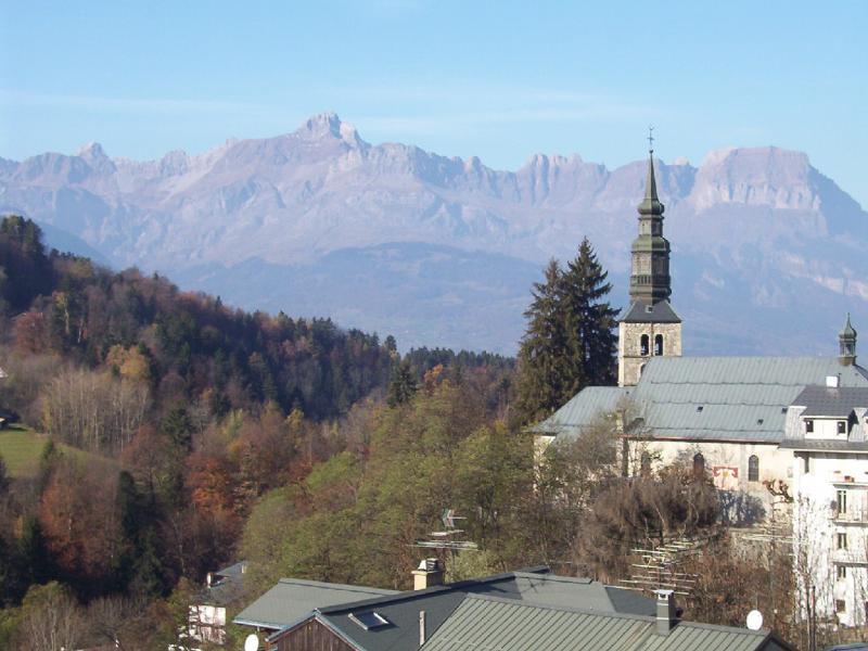 Vue depuis la location Location Studio 2586 Saint Gervais Mont-Blanc