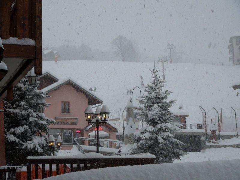 Vue de la terrasse Location Appartement 26634 Saint Martin de Belleville