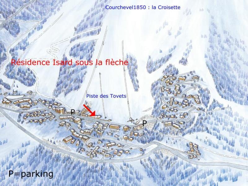 Carte Location Appartement 26769 Courchevel
