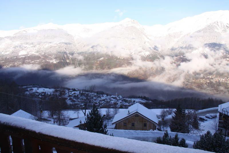 Vue de la terrasse Location Chalet 27113 La Plagne
