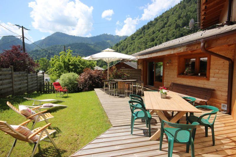 Vue de la terrasse Location Chalet 27503 Saint Jean d'Aulps- La Grande Terche