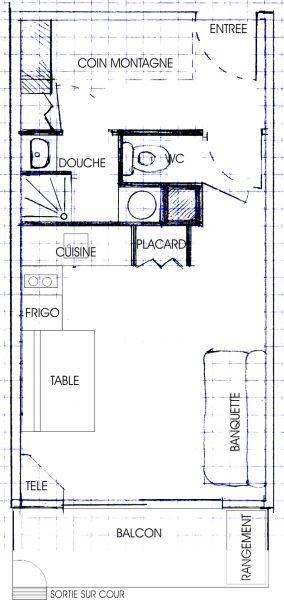 Plan de la location Location Studio 2795 Le Sauze