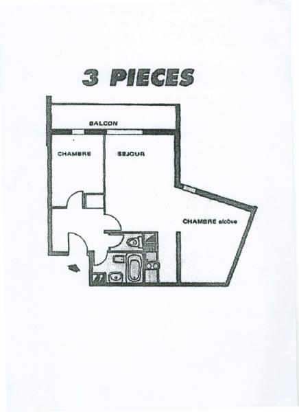 Plan de la location Location Appartement 2813 Les Sept Laux