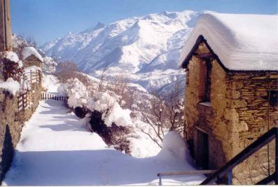 Vue de la terrasse Location Maison 29 Alpe d'Huez