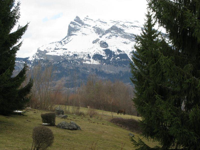 Vue du balcon Location Appartement 29903 Saint Gervais Mont-Blanc