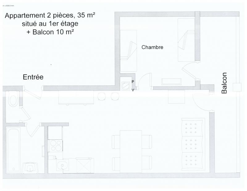 Plan de la location Location Appartement 3093 Tignes