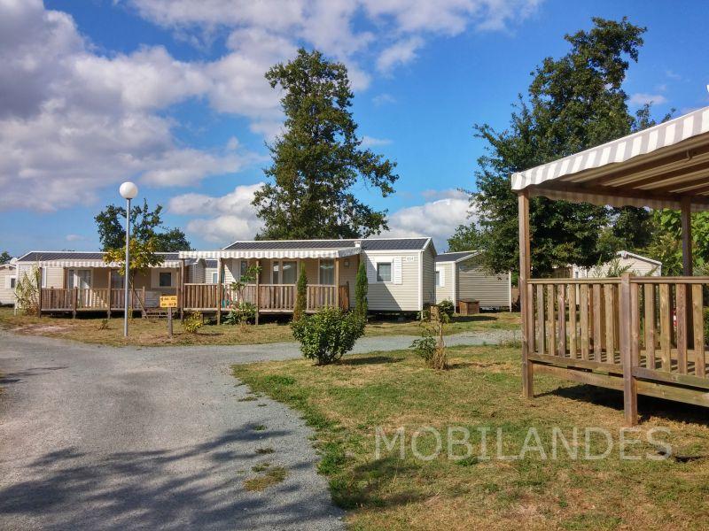Vue extérieure de la location Location Mobil-home 31432 Biscarrosse