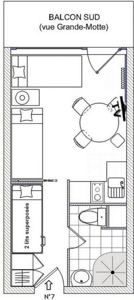 Plan de la location Location Studio 3155 Tignes