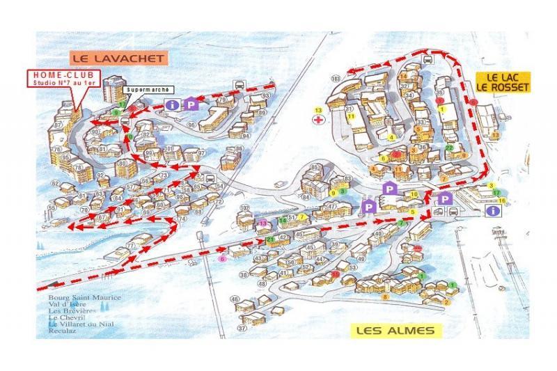 Carte Location Studio 3155 Tignes