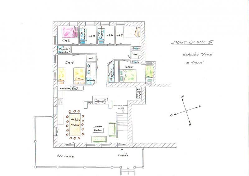 Plan de la location Location Chalet 322 Les Arcs