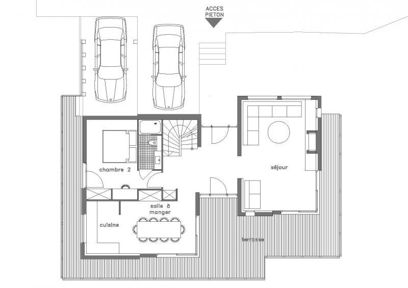Plan de la location Location Chalet 32551 Les Contamines Montjoie
