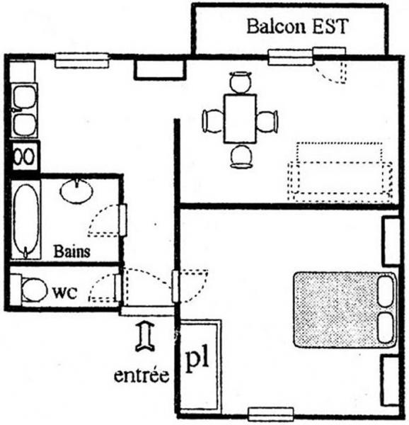 Plan de la location Location Appartement 3258 Val Cenis