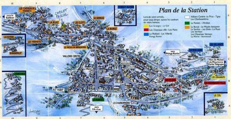 Carte Location Chalet 3373 Valloire
