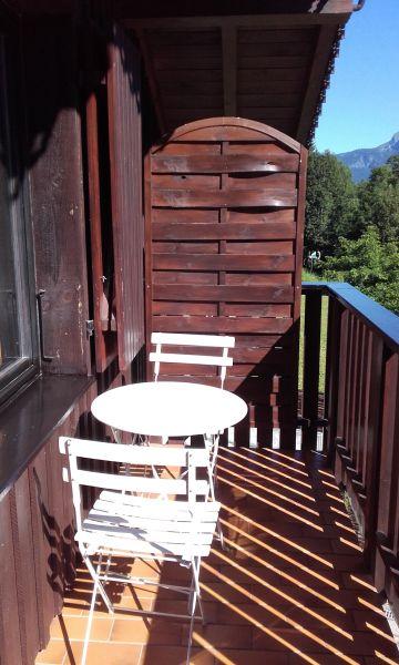 Vue du balcon Location Chalet 36087 Saint Gervais Mont-Blanc
