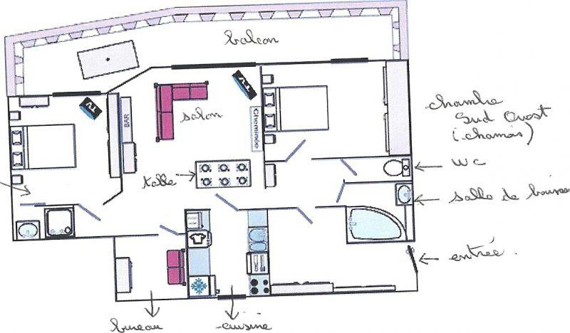 Plan de la location Location Appartement 36468 Val d'Isère