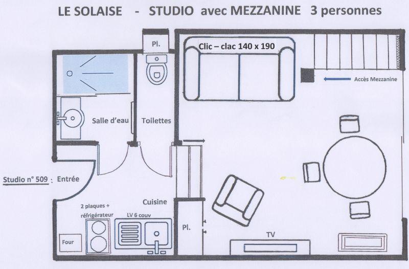 Plan de la location Location Studio 38836 Val d'Isère