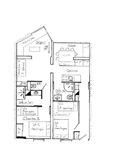 Plan de la location Location Appartement 38840 Les Menuires