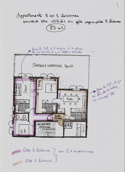 Plan de la location Location Appartement 390 Aussois