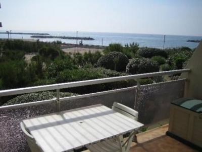 Vue de la terrasse Location Studio 40363 Palavas-les-Flots