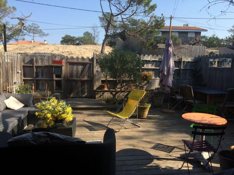 Vue de la terrasse Location Appartement 40487 Cap Ferret