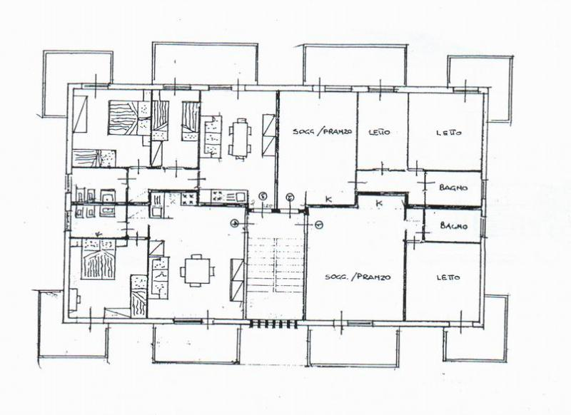 Plan de la location Location Appartement 40527 Rimini