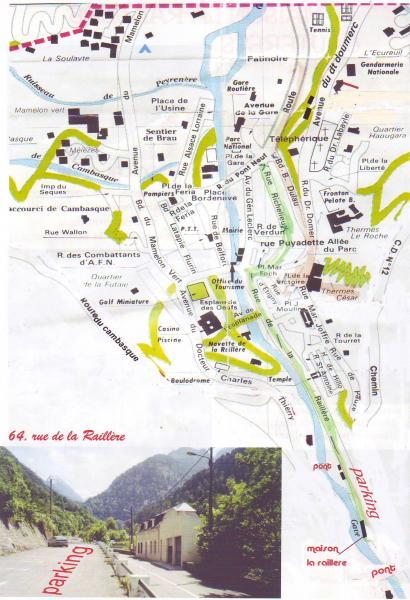 Plan de la location Location Appartement 4086 Cauterets