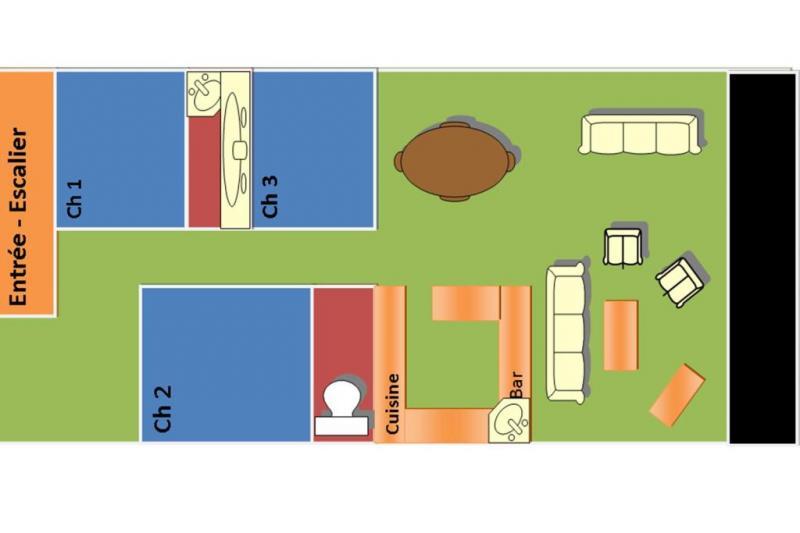 Plan de la location Location Appartement 40885 Saint Lary Soulan