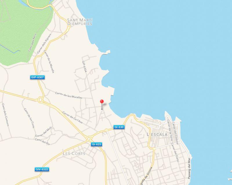 Plan de la location Location Appartement 43764 L'escala