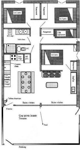 Plan de la location Location Appartement 4397 Saint Lary Soulan