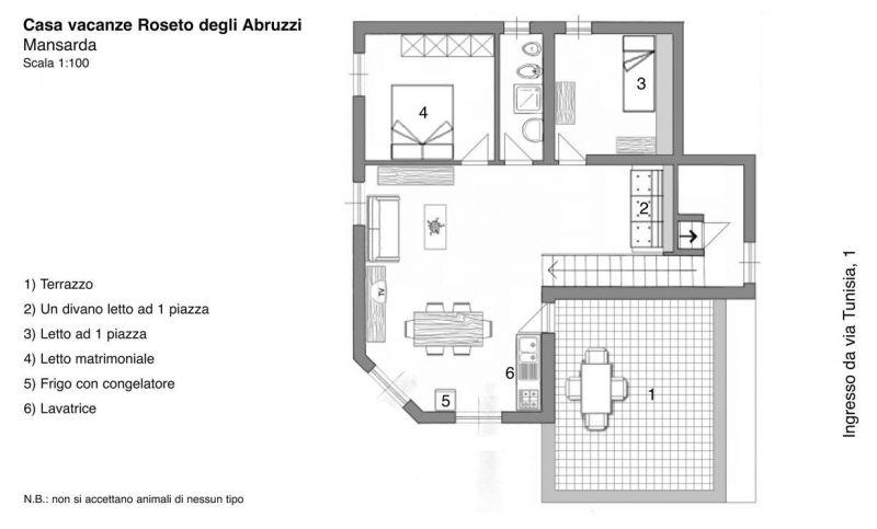 Plan de la location Location Appartement 45432 Roseto degli Abruzzi