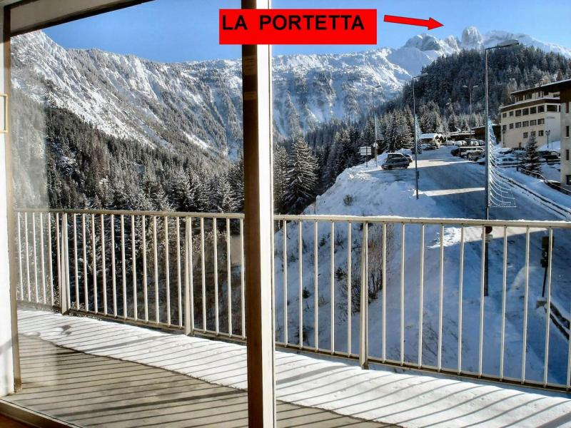 Vue du balcon Location Appartement 49750 Courchevel