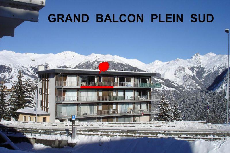 Vue extérieure de la location Location Appartement 49750 Courchevel