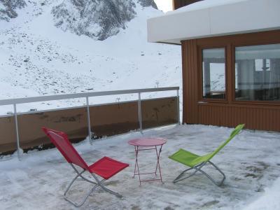 Vue de la terrasse Location Appartement 50140 La Mongie
