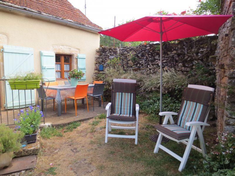 Vue de la terrasse Location Gite 51135 Saint-Cirq-Lapopie