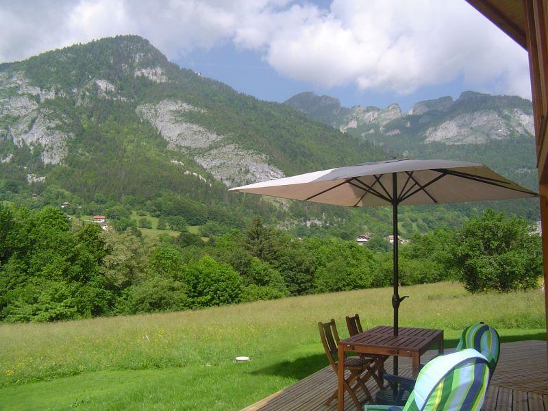 Vue depuis la location Location Chalet 517 Saint Jean d'Aulps- La Grande Terche