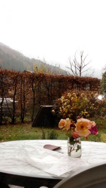 Vue de la terrasse Location Studio 520 Abondance