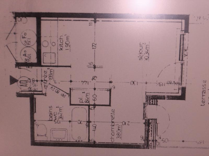 Plan de la location Location Studio 520 Abondance