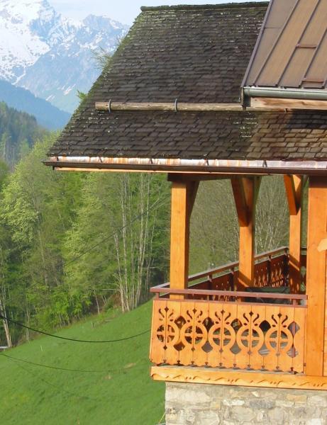 Vue extérieure de la location Location Appartement 52301 Le Grand Bornand