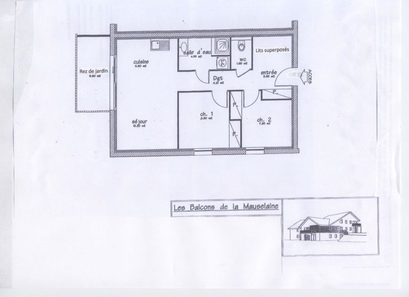 Plan de la location Location Appartement 52947 Gérardmer
